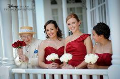 A sweet photo of three beautiful bridesmaids and Richard, one of our favorite greeters at the Grand Floridian Photo: Chris, Disney Fine Art Photography Wedding Proposals, Wedding Pics, Wedding Stuff, Dream Wedding, Wedding Day, Disney Fine Art, Disney Fun, Disney Stuff, Disney Weddings