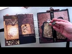 DCWV Steampunk Tattered Time Scrapbook Giant Mini Album by Scrapbookgiggles - YouTube