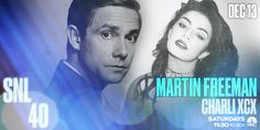 this will be AWESOOOOOOME!  December 13: Martin Freeman hosts #SNL with musical guest Charli XCX!