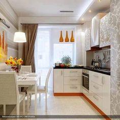 Small, modern kitchen.