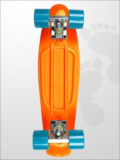 Shop for Retro Skateboard in 22 inch Orange at Two Bare Feet | Retro Skateboards | twobarefeet.co.uk
