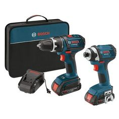 Bosch CLPK234-181 Compact Tough™ 18-Volt Lithium-Ion Cordless Drill/Driver and Impact Driver Combo Kit