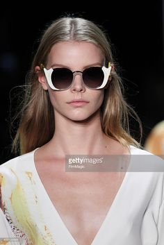 A model walks the runway during the Prabal Gurung as a part of Spring 2016 New York Fashion Week on September 13, 2015 in New York City.