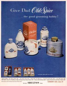 1955 Old Spice Vintage Advertisement Bathroom by RelicEclectic Retro Advertising, Advertising Signs, Vintage Advertisements, Vintage Ads, Retro Ads, Vintage Stuff, Vintage Wall Art, Vintage Prints, Powder Room Decor