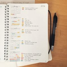 """eternastudies: """" almost ready for uni~ opened a new bujo and made a school calendar with all important events. the color coding makes me very happy :3 """""""