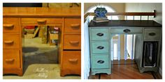 This could be a fix for the old broken desk:   Northern Nesting: Lucketts Green/The Reveal