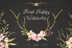 Floral Fantasy Watercolor by NataliVA on @creativemarket