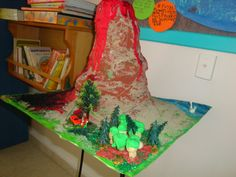 volcano Volcano, Classroom Ideas, Christmas Stockings, Earth, Holiday Decor, Cake, Home Decor, Needlepoint Christmas Stockings, Decoration Home