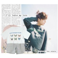 Jungkook: i´ll leave my love between the stars by yxing on Polyvore featuring MANGO, adidas Originals, kpop, bangtan and jungkook