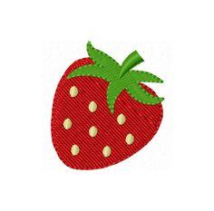 Instant Download Strawberry Mini Filled Stitches Machine Embroidery Design NO:1139