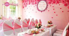 Trang trí nhà đám hỏi tông màu hồng cao cấp mang đến không gian đám cưới đẹp, ấn tượng cho ngày lễ ăn hỏi về.