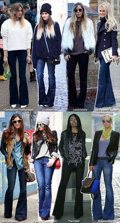Blue is in Fashion this Year: Inspiration: Flare Jeans...I'm not a big fan of skinny jeans but sure love the flare!!! 70s Style ;)