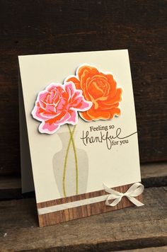Thankful For You Card by Jess Witty for Papertrey Ink (July 2012)