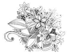 Bunch of Flowers Doodle - Doodle is Art