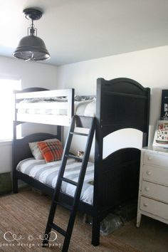 the boys' room progress {walls, ceiling, light & shelves}