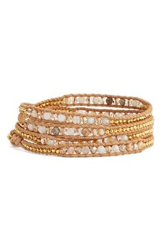 Chan Luu Beaded Leather Wrap Bracelet available at #Nordstrom
