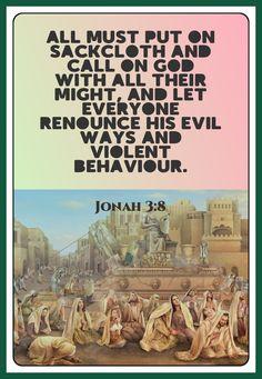 Jonah 3:8 Prophet Jonah, Behavior, Let It Be, God, Movie Posters, Behance, Dios, Film Poster, Allah