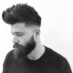 mokumbarbers_ fade and long quiff hairstyle for men