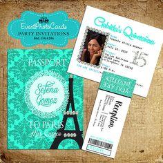 Paris Passport Invitation Template Inspirational Paris Pink Passport Invitations with Ticket Reception Pass Paris Invitations, Passport Invitations, Quince Invitations, Sweet 16 Invitations, Quinceanera Invitations, Quinceanera Party, Birthday Invitations, Business Invitation, Wedding Invitations