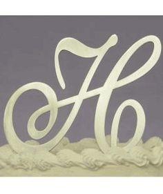 Fully Covered In Crystal Monogram Wedding Cake Topper Letter