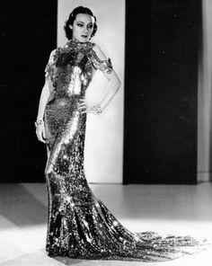Dolores Del Rio wearing stunning Orry-Kelly gown in Wonder Bar, Jewelry by Joseff of Hollywood. Hollywood Fashion, Hollywood Costume, Old Hollywood Glamour, Vintage Hollywood, Hollywood Stars, Hollywood Dress, Oscar Fashion, 1930s Fashion, Vintage Fashion