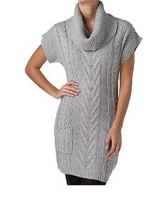 cowl knitted dress - new look