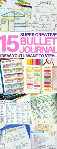 This is just what I am looking for - a cheat sheet of different bullet journal page ideas! So helpful! The blog post also has a video and tons of layout inspiration that helped me get started.