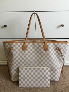 1f31de534a01 Authentic Louis Vuitton Damier Azur Neverfull GM w  Pouch shoulder bag   fashion  clothing