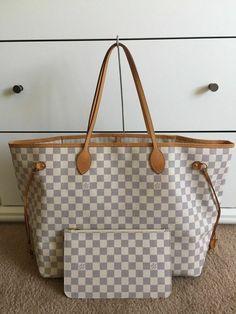 724f79095b97 Authentic Louis Vuitton Damier Azur Neverfull GM w  Pouch shoulder bag   fashion  clothing
