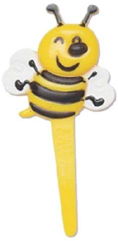 Bakery Crafts Bumble Bee Cupcake Picks, 12-Pack Bakery Crafts http://www.amazon.com/dp/B008YG8YL4/ref=cm_sw_r_pi_dp_xf90tb0FYFF80B6B
