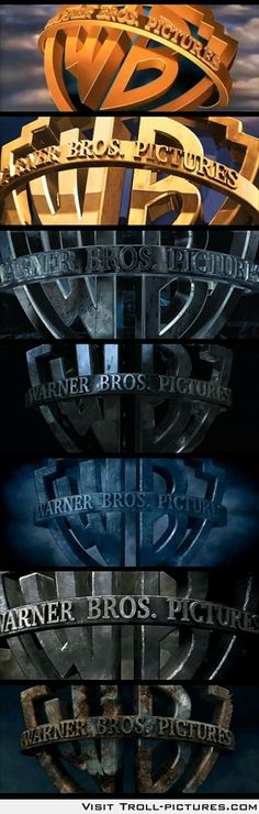 Warner Brothers Logo rusting through the Harry Potter movies