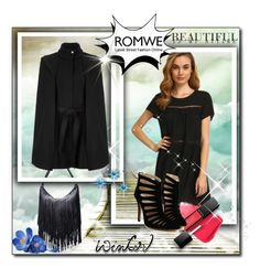 """Romwe"" by madex03 ❤ liked on Polyvore featuring Revlon and Maje"