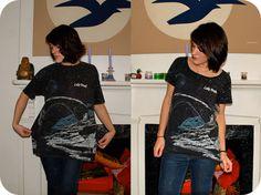 Sally Ann: How to cut down an XL t-shirt