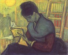 The Novel Reader [Die Romanleserin], Vincent van Gogh, oil on canvas, 1888