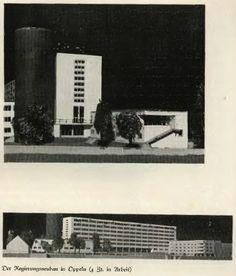 1931 , Jeden z nie zrealizowanych wariantów projektu ( skrzydła południowego ) gmachu nowej rejencji, po wyburzeniu zamku piastowskiego. Zdjęcie z gazety ,,Der Oberschlesier,, z 1937 roku ( ze strony pomiędzy 202 i 203, strony ze zdjęciami są nie numerowane )