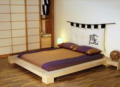 Great expensive japanese bedroom that will impress you Japanese Floor Bed, Japanese Style House, Japanese Design, Japanese Bedroom Decor, Modern Bedroom, Bedroom Red, Bedroom Colors, Cama Tatami, Zen Bed