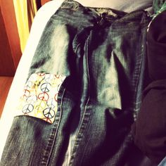 I patch jeans because I don't like holes