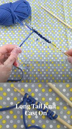 Cast On Knitting, Knitting Stitches, Knitting Patterns, Crochet Patterns, Knitting Basics, Cute Crochet, Crochet Hooks, Knit Crochet, Knit Stitches For Beginners