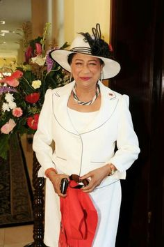 Prime Minister of Trinidad and Tobago. Honorable Mrs Kamla Persad Bissessar.