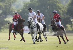Rico Richert, Prince William, Duke of Cambridge, Prince Harry and Robert Jornayvaz attend day one of the Audi Polo Challenge at Coworth Park on May 28, 2016 in London, England.