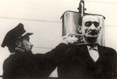 Prague, Czechoslovakia, The hanging of Heinrich Jöckel, the commander of Theresienstadt Small Fortress.