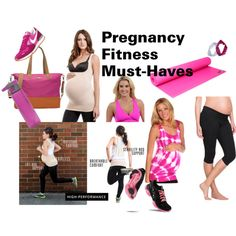 """Pregnancy Fitness Must-Haves"" by duematernityandbaby on Polyvore maternity workout wear"