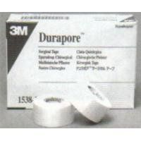 """3M Durapore Surgical Tape 3"""" x 10 yd Box: 4 by 3M. $18.69. Box: 4. 3"""" x 10 yd (7.5 cm x 9.14 m). 3M HEALTHCARE. """"Silk-like"""" cloth tape with strong adhesion works well for many different applications, such as securing bulky dressings, heavier tubing, and small splints.. Convenient bi-directional tear makes it easy and quick to use without scissors.. """"Silk-like"""" cloth tape with strong adhesion works well for many different applications, such as securing bulky dressings, heav..."""