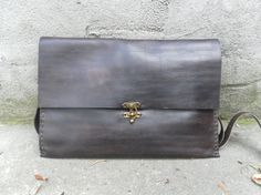 Handmade Leather Laptop Sleeve Leather Attache Case by NadiraBag, $135.00