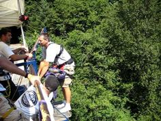 Bungee jump prank - NO WAIT! - omg they coulda seriously given this guy a heart attack!