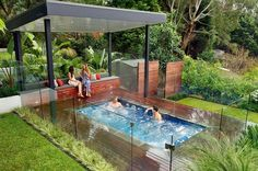 Popular of Small Patio Water Feature Ideas Small Inground Pools Inspiring Ideas For Small Gardens And - Patios are a wonderful location to spend your summe Inground Hot Tub, Small Inground Pool, Small Pools, Pool Shade, Patio Shade, Above Ground Pool, In Ground Pools, Oberirdische Pools, Kleiner Pool Design