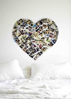 We could ask yearbook staff for some pictures from the last couple years, then make them spell PROM2013 or something like that instead of a heart, i think it would be very cute:)