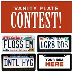 Contest time! Who can come up with the best vanity plate idea for Dr. Steve's car. The rules are that it must be only 7 characters or less. Whoever comes up with the most clever vanity plate idea wins Chipotle!!! There's no limit on your entries.