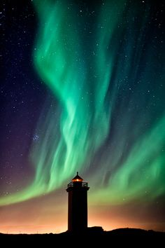 Stafnes Lighthouse & The Aurora by Gunnar Gestur Geirmundsson, via 500px