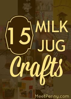 NEW at Meet Penny: Recycled Milk Jug Crafts - #15 is my favorite!